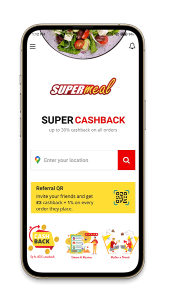 Online food delivery apps in UK - Supermeal